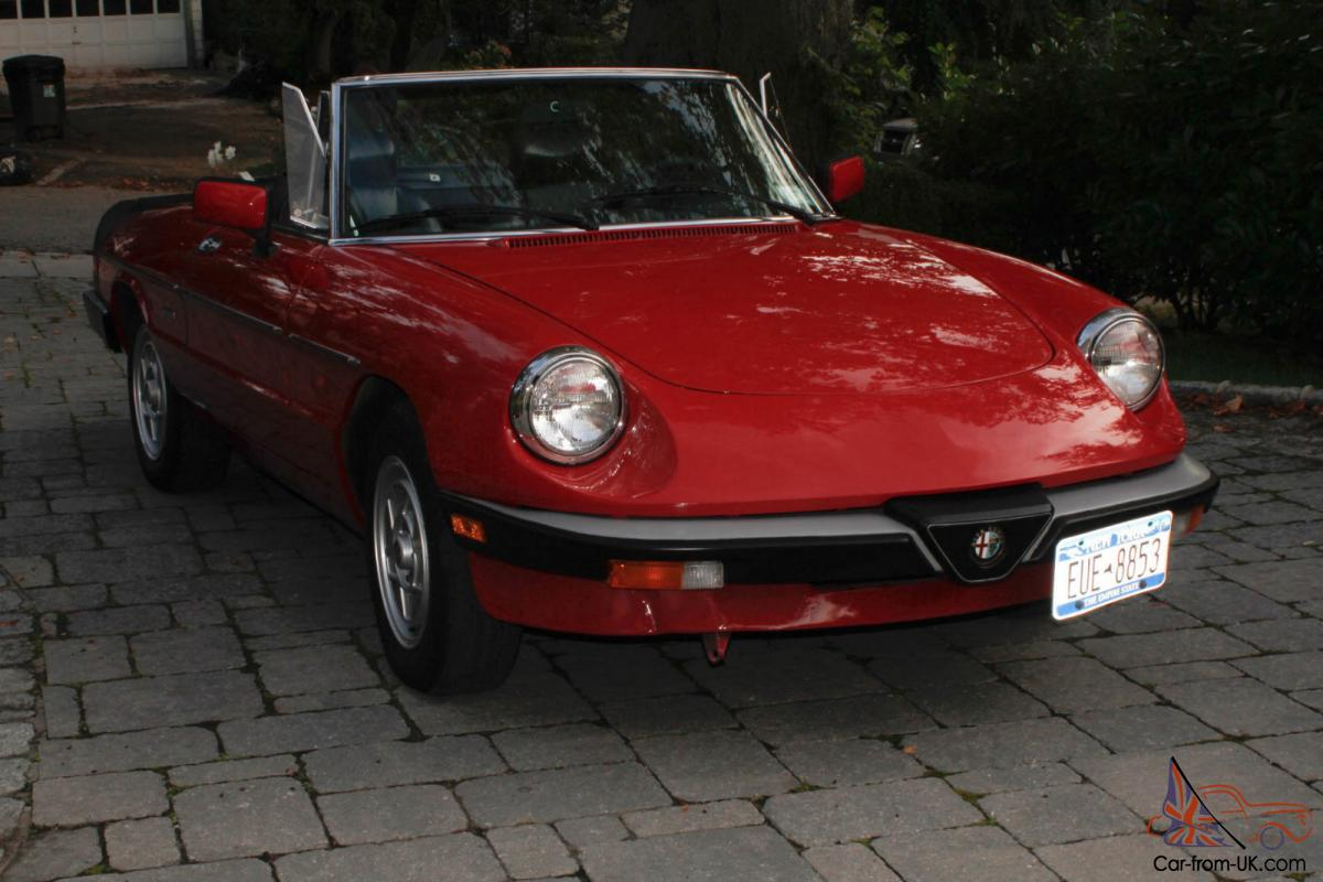 1986 alfa romeo spider veloce 72 200 miles one owner fully restored. Black Bedroom Furniture Sets. Home Design Ideas