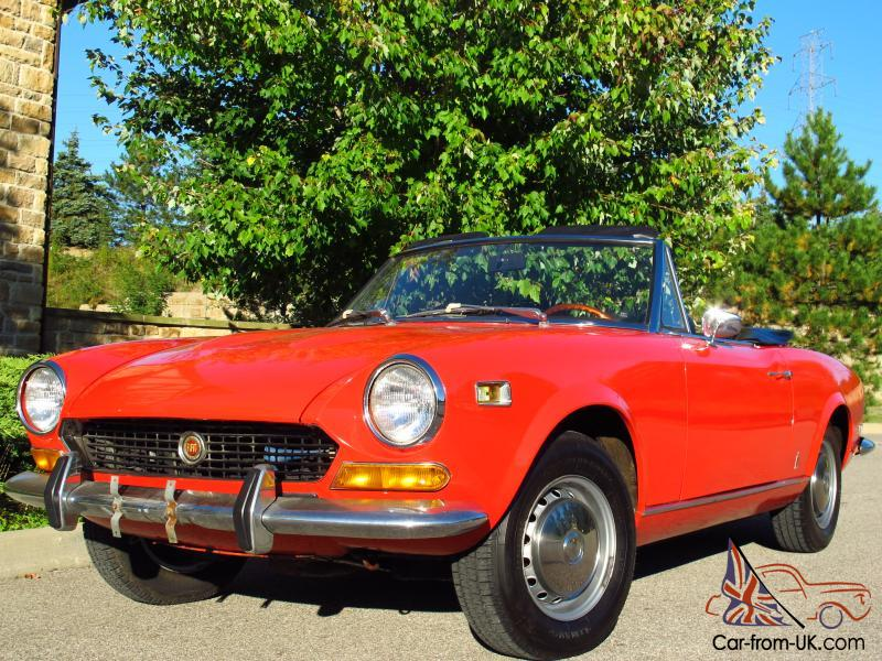 1974 fiat 124 sport spider 1800 roadster only 15 000 original miles. Black Bedroom Furniture Sets. Home Design Ideas