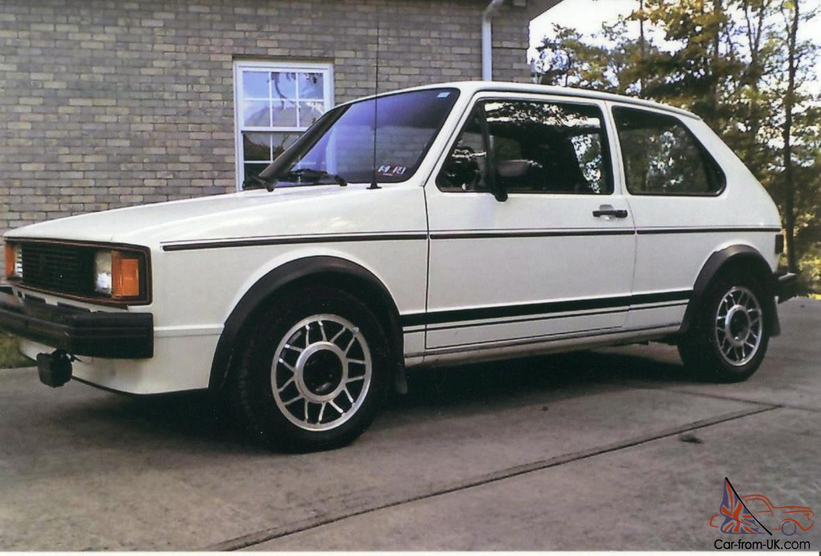 1983 Vw Rabbit Gti Callaway Stage 2 Turbo White With Red
