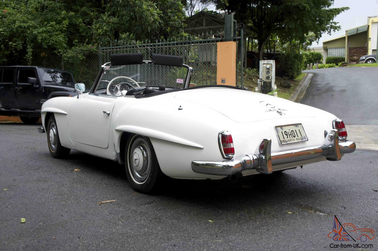 1962 mercedes 190sl with hard top include worldwide for Classic mercedes benz for sale ebay