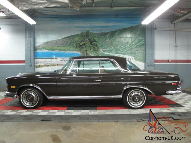 Mercedes benz 280se coupe rust free black plate southern for Mercedes benz southern california