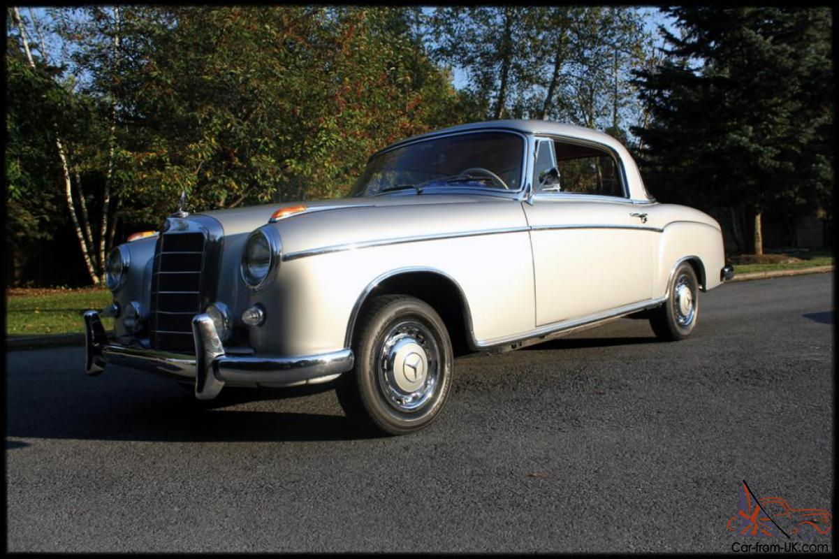 1958 mercedes benz 220s coupe 1 of 1251 restored 1 879 for 1958 mercedes benz 220s for sale