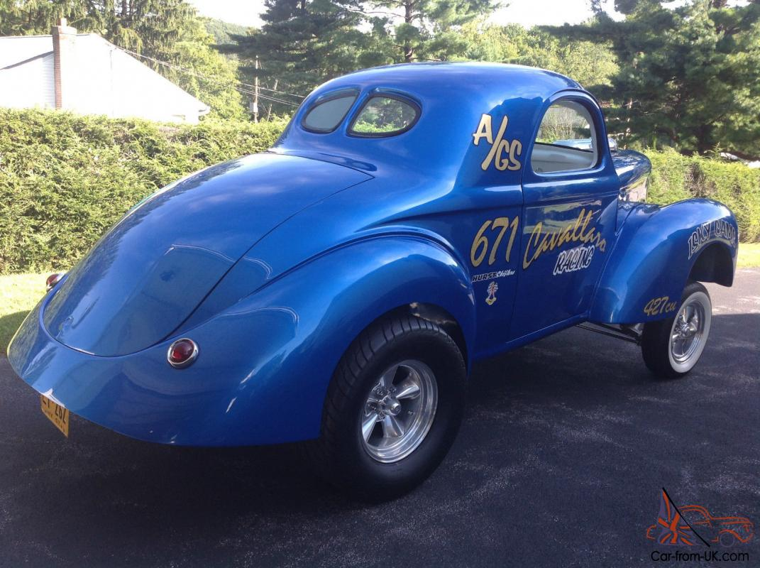 Willys Car: 1941 Willys Gasser Coupe Muscle Drag Car