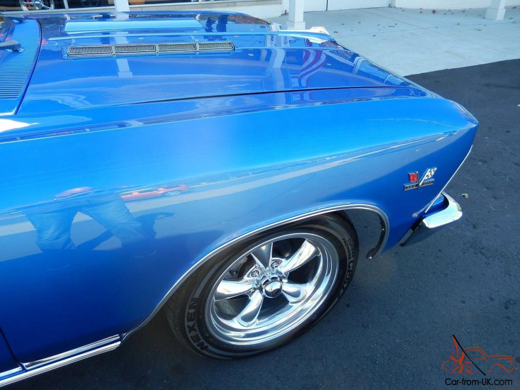 1966 Chevrolet Chevelle Marina Blue Block Disc Brakes Buckets With Console