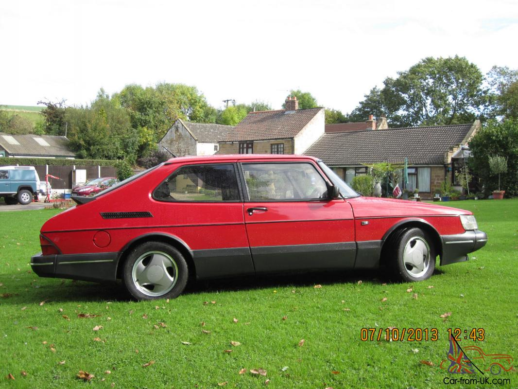 saab 900 turbo s 16v 1993 red 3 door excellent condition. Black Bedroom Furniture Sets. Home Design Ideas