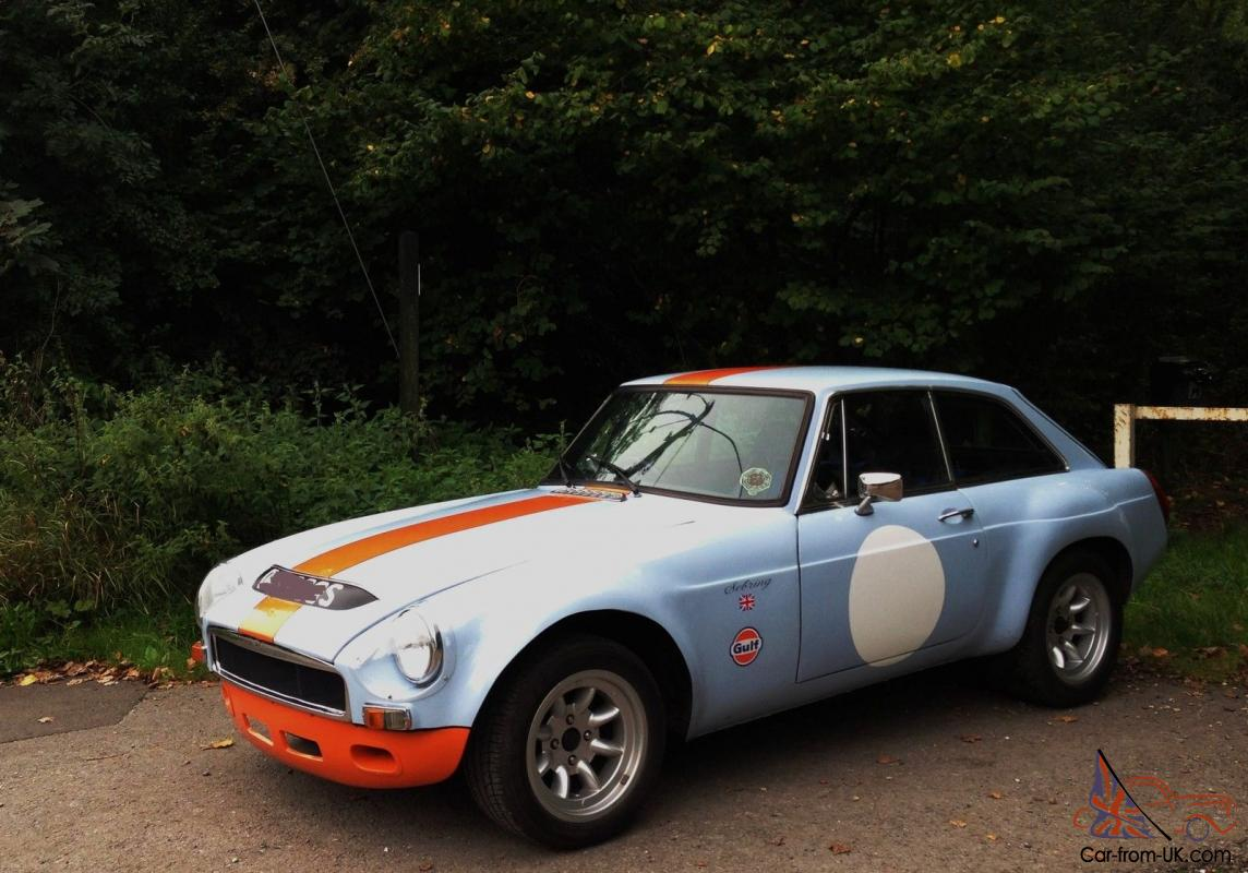 MGB GT SEBRING STUNNING CAR in PERIOD GULF RACE COLOURS MOT 2014 ...