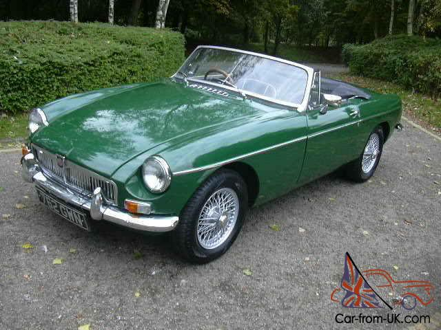 MGB Roadster, 1963, Pull Handle, Wire Wheels, Chrome Bumpers, Tax ...