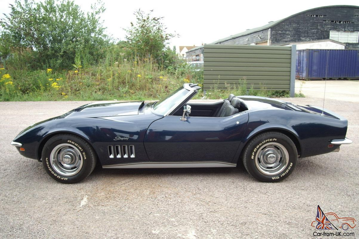 for sale by corvette kingdom dark blue black interior 1969. Cars Review. Best American Auto & Cars Review