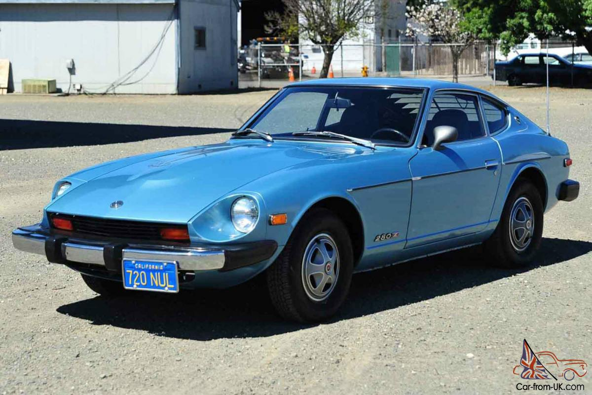 1976 Datsun 280Z 2.8L/3Sp Auto Fuel Injection Factory AC California Clean  Orig