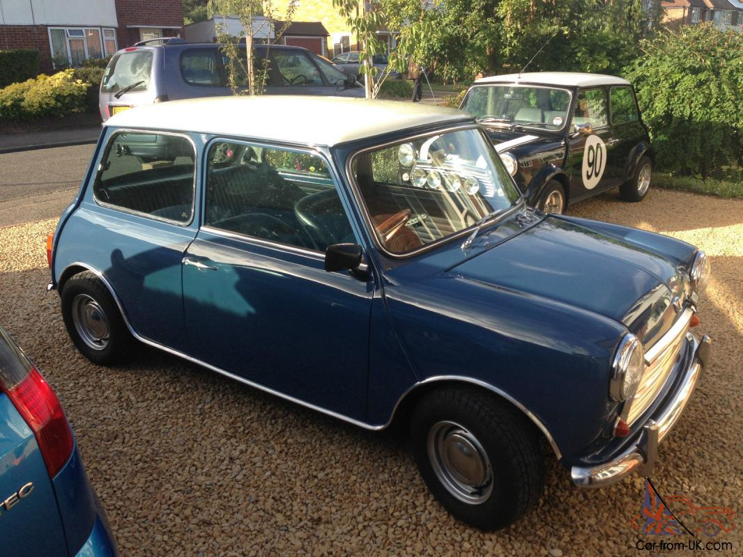 1991 rover mini cooper blue white mk2 style long mot and tax. Black Bedroom Furniture Sets. Home Design Ideas