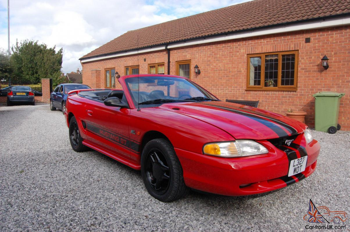 1994 ford mustang gt red 5litre manual convertable. Black Bedroom Furniture Sets. Home Design Ideas