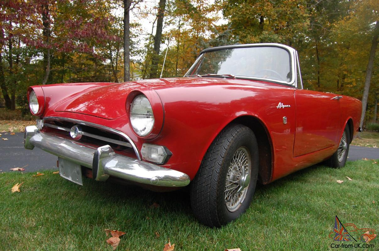 1967 Sunbeam Alpine Red With Black Interior Wire Wheels Good Driving Example