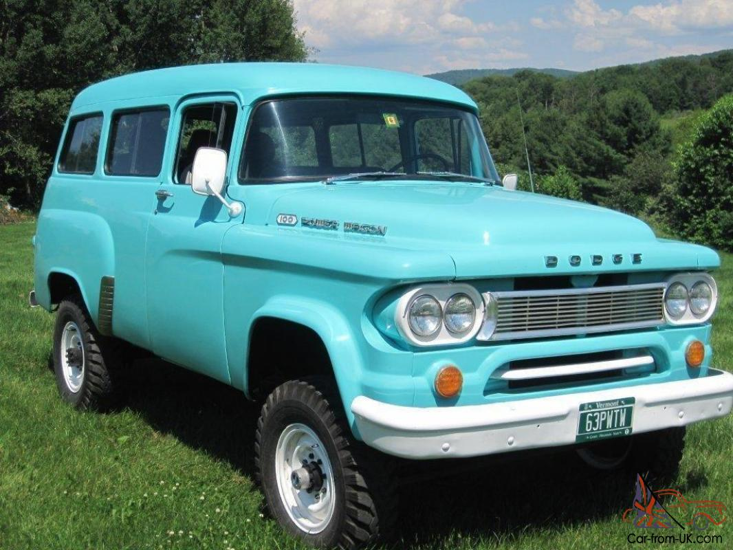 1963 dodge power wagon town wagon for Motorized wagon for sale