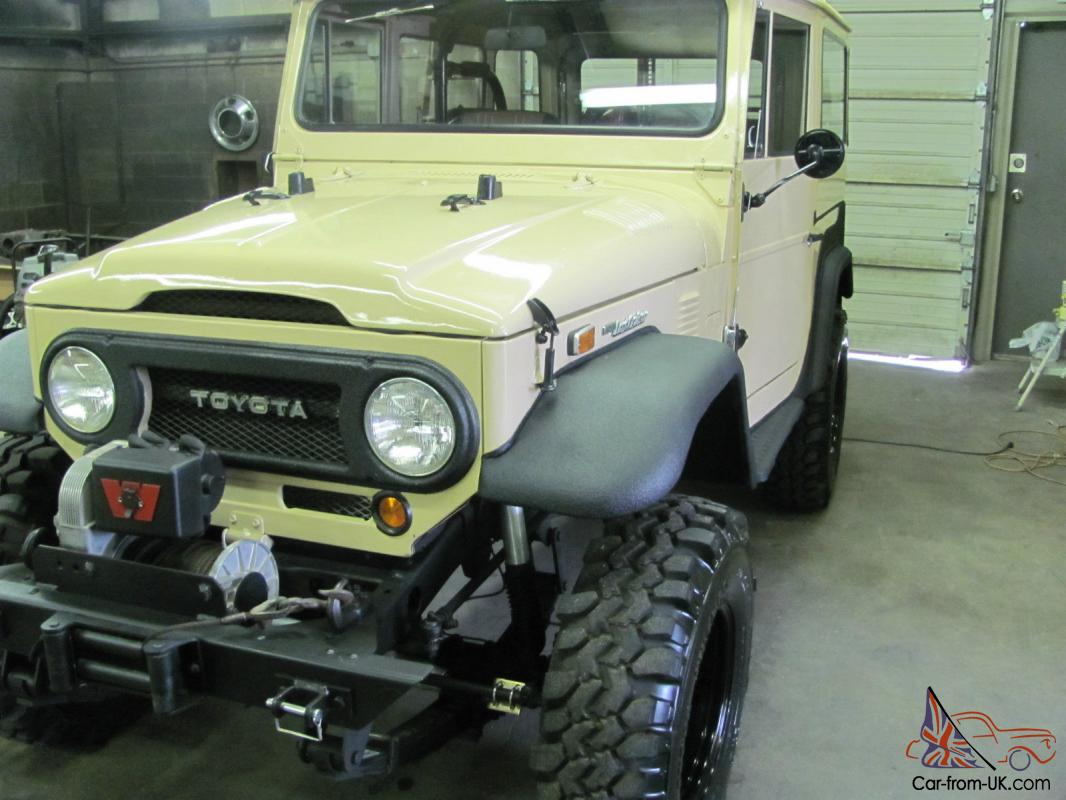 1974 toyota land cruiser restored 4x4 convertible offroad bronco jeep scout suv. Black Bedroom Furniture Sets. Home Design Ideas