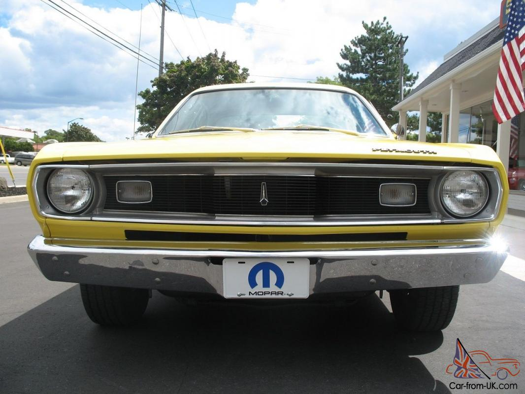 1970 plymouth duster lemon twist yellow matching numbers 340 4 speed. Black Bedroom Furniture Sets. Home Design Ideas