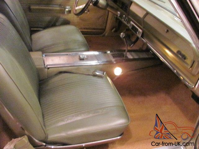 1966 Plymouth Satellite 318 Poly Engine Gold With Citroen Green Interior