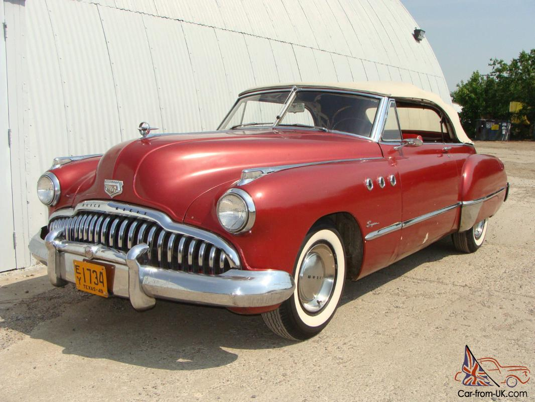 1949 Buick Super Convertible Good Driver Texas