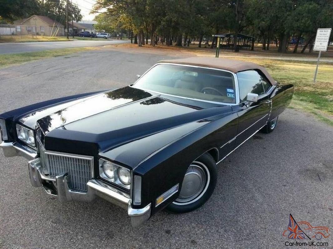 1971 Drop Top Cadillac Eldorado Rare