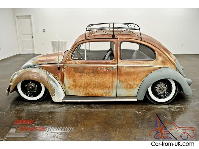 Captivating 1957 Volkswagen Beetle Air Ride 1600cc 4 Speed Roof Rack CHECK THIS OUT