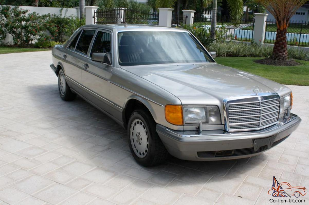 1986 mercedes benz 420sel one owner florida car for Mercedes benz for sale by owner in florida