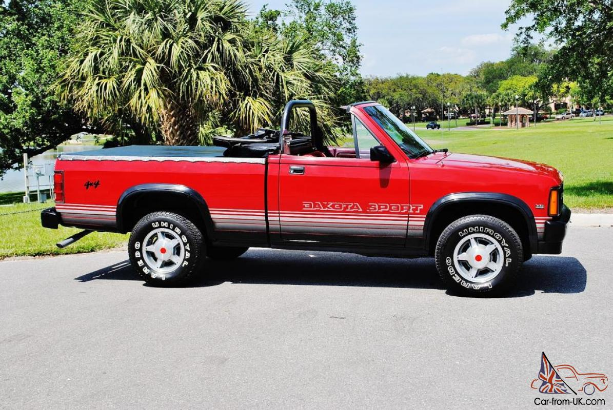 miles 1989 dodge dakota 4x4 convertible very rare sweet for sale. Cars Review. Best American Auto & Cars Review