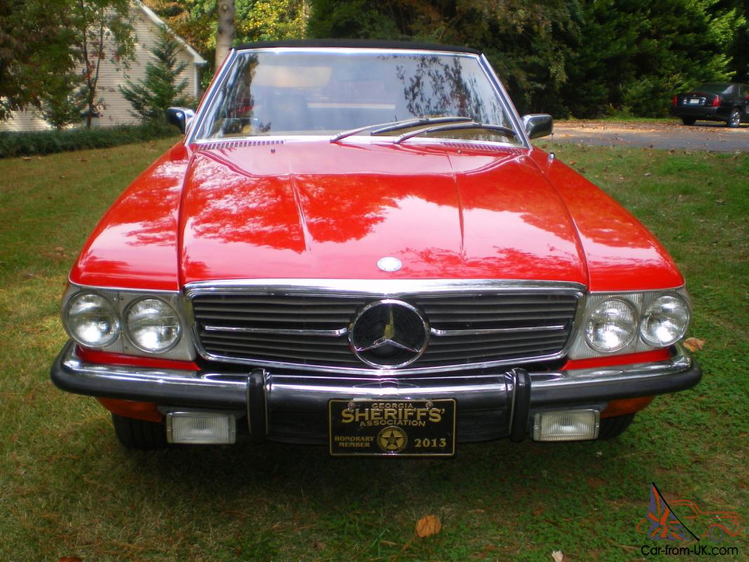 1972 mercedes benz 350sl red convertible both tops 34 500 for 1972 mercedes benz