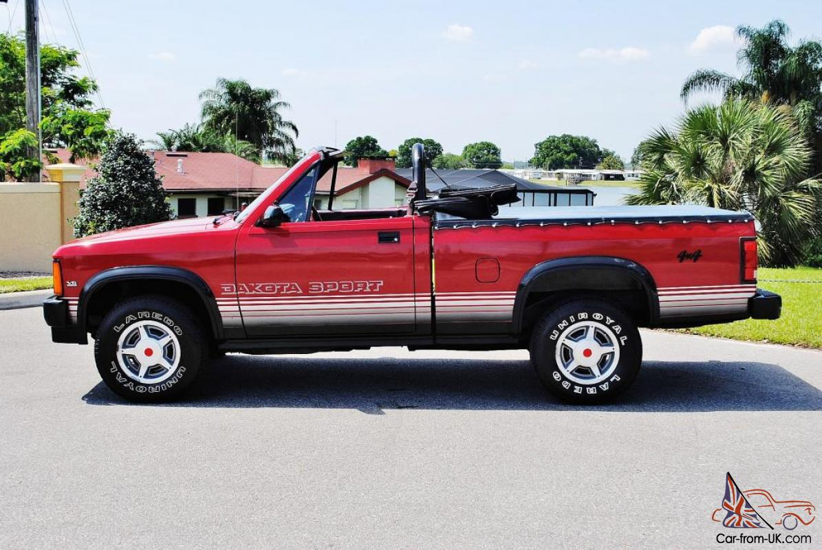 48 880 miles 1989 dodge dakota 4x4 convertible very rare sweet. Cars Review. Best American Auto & Cars Review