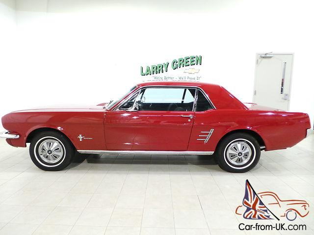 Classic Mustang Red On Black Built Motor Vintage 100