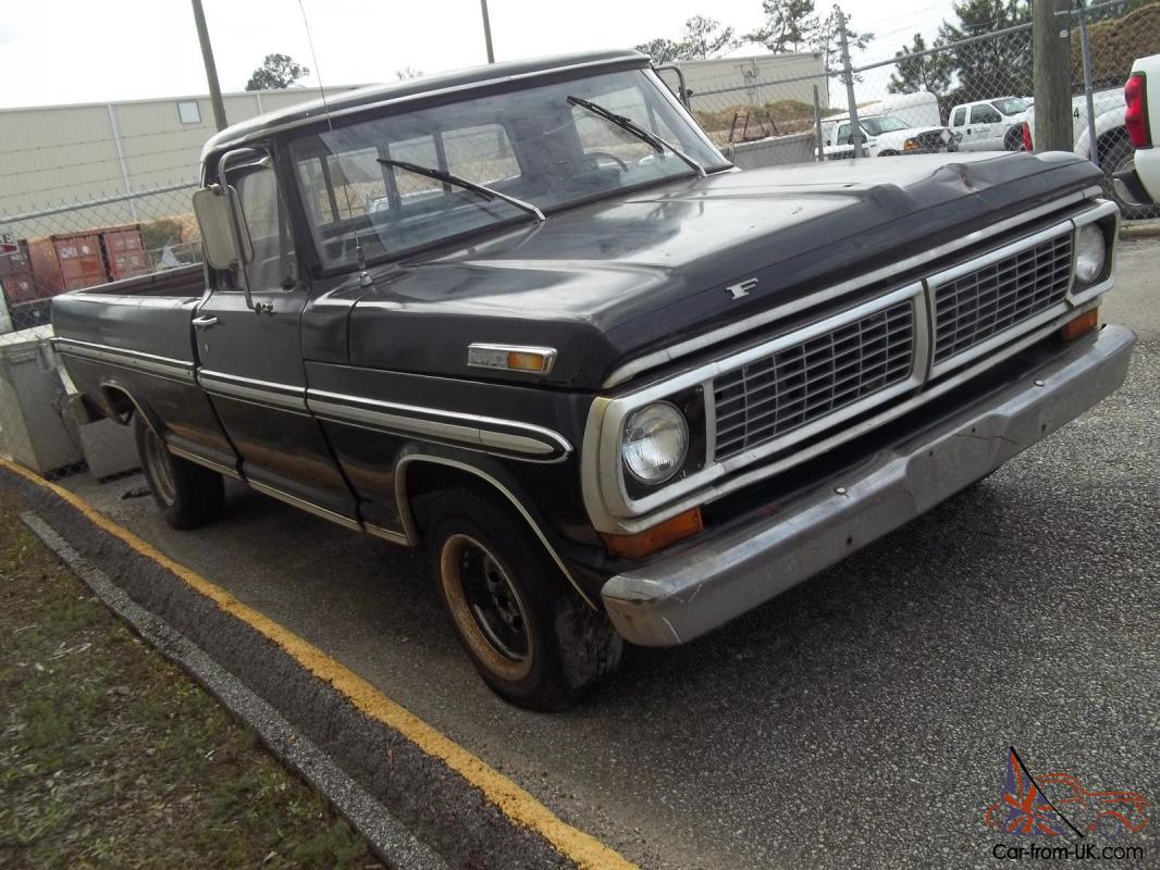 1970 ford pickup f100 f 100 long bed great truck priced to sell re listed. Black Bedroom Furniture Sets. Home Design Ideas