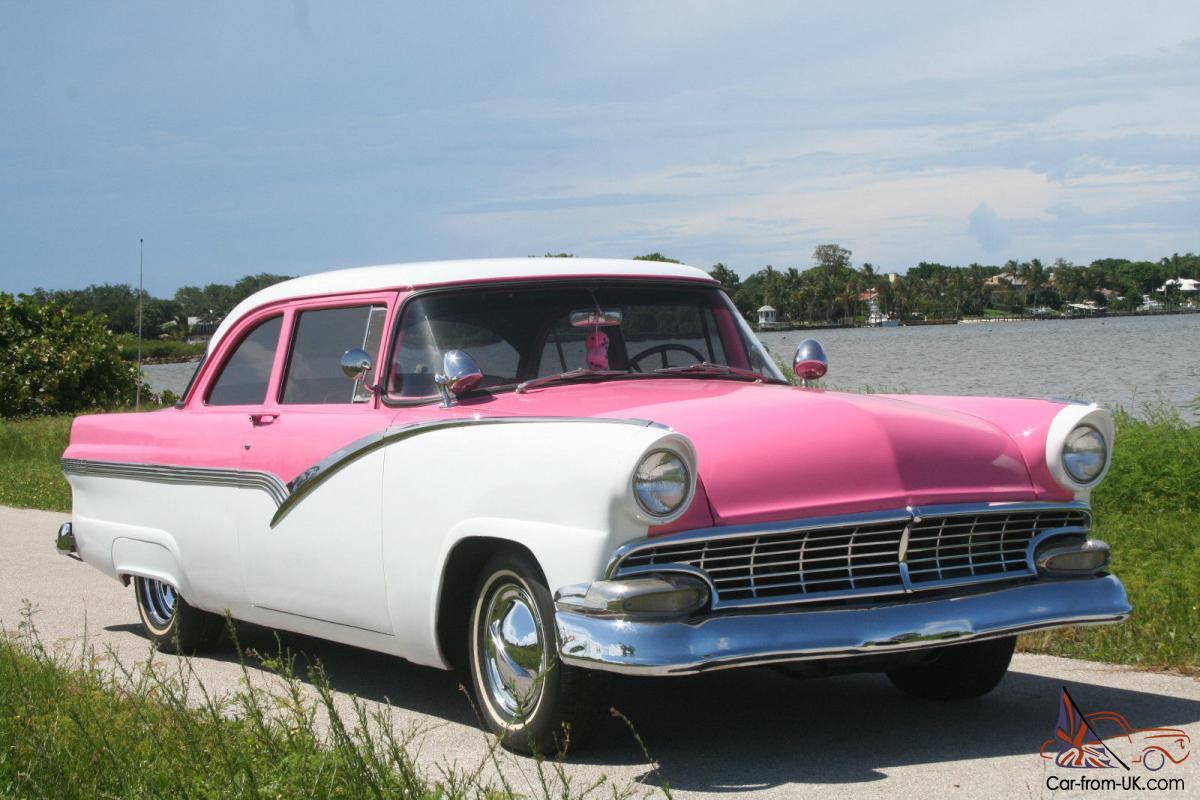 1956 Ford Fairlane Pink And White Very Original