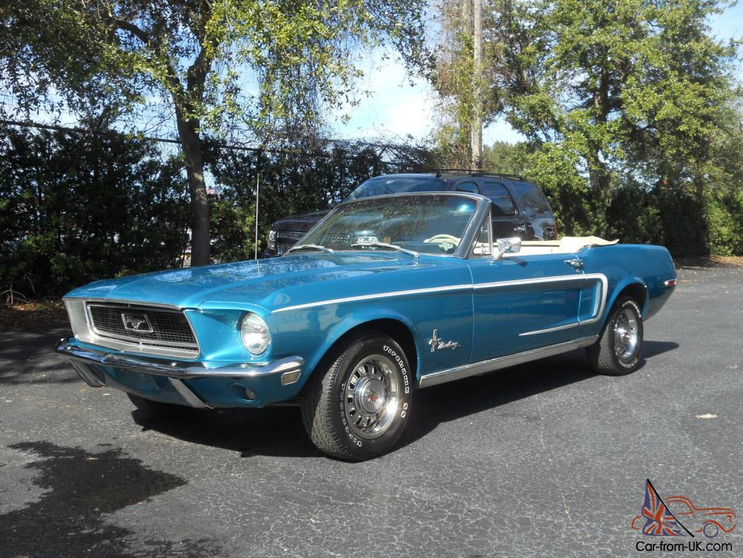 1968 Mustang Convertible Mustang Rare Parchment Interior