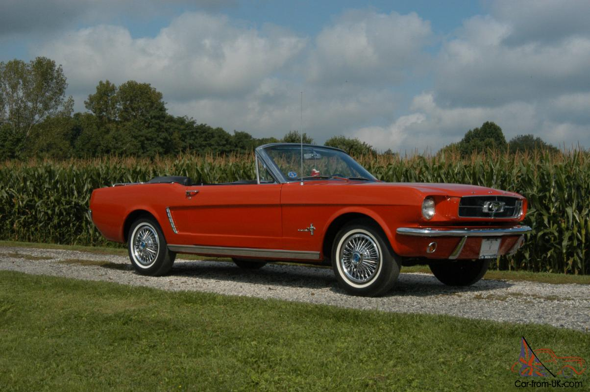 beautiful red 1965 ford mustang convertible 50th. Black Bedroom Furniture Sets. Home Design Ideas