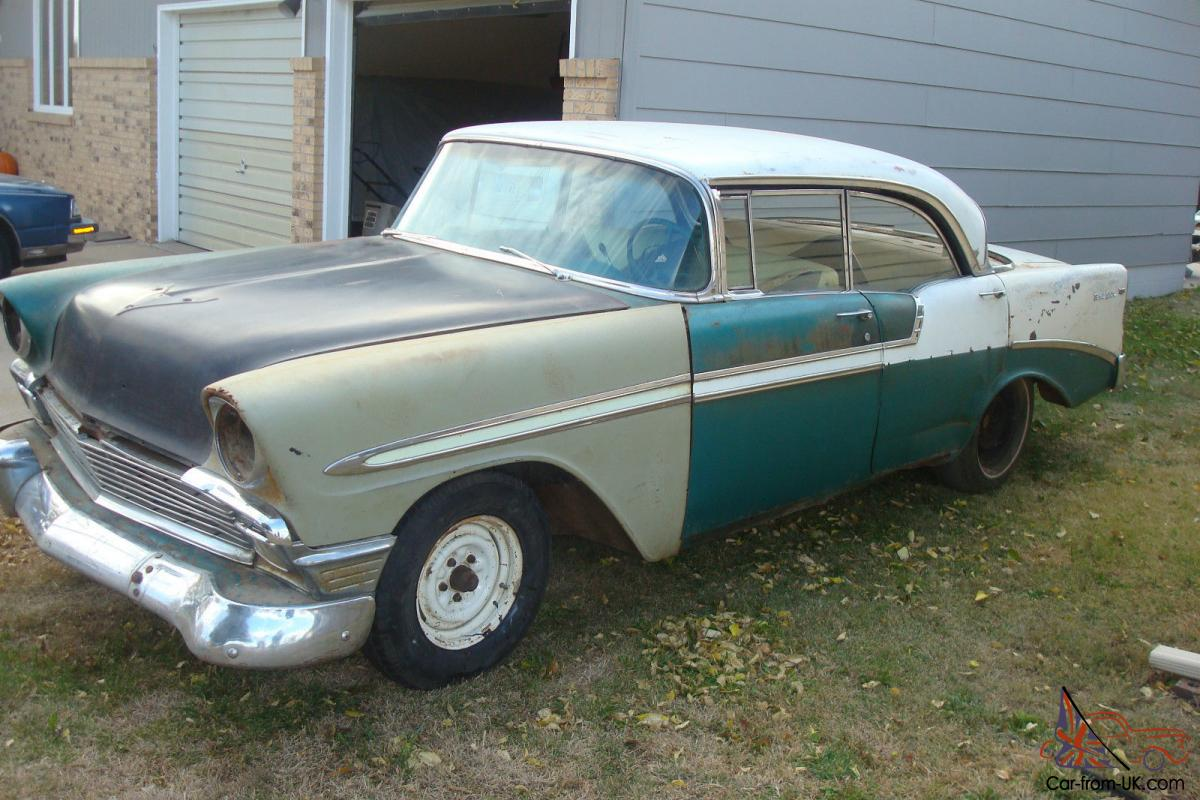 1956 chevy 4 door hardtop sport sedan belair chevrolet