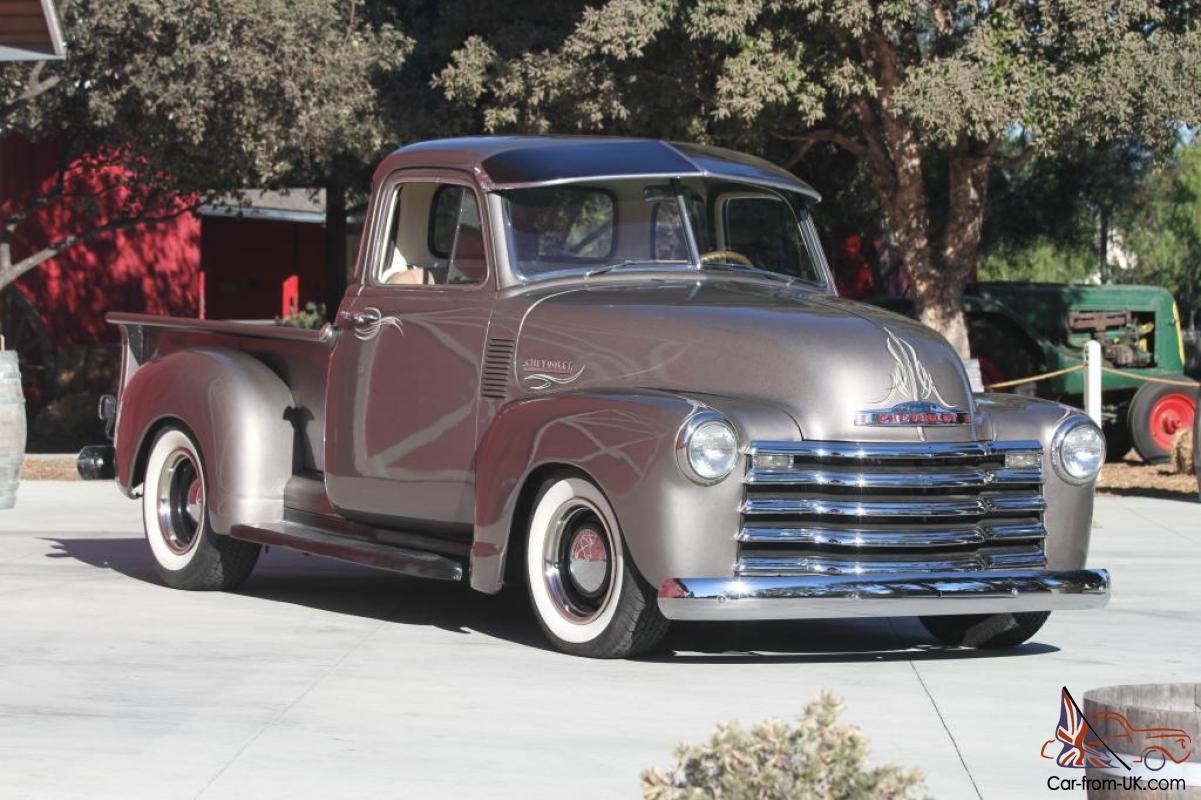 1952 chevrolet truck 3100 5 window chevy hot rod 383 with for 1952 chevy pickup 5 window