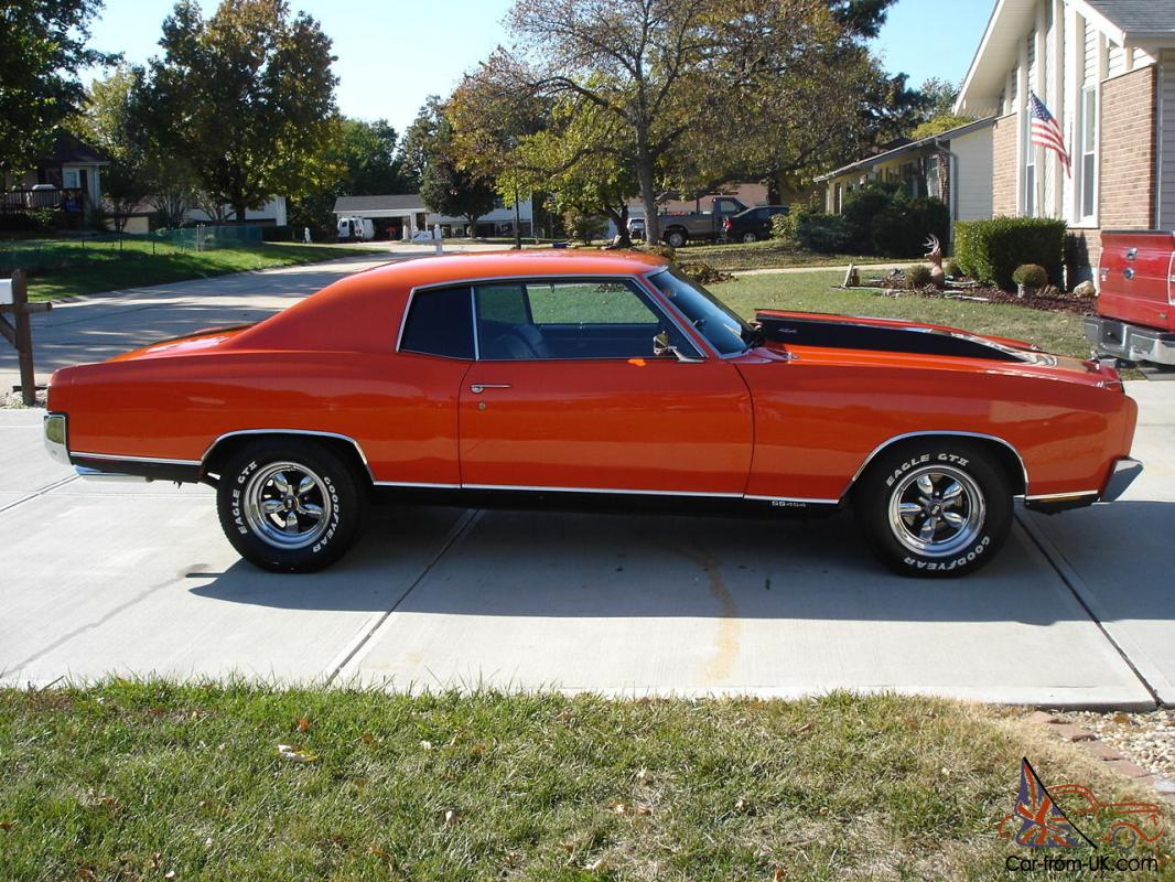 1970 chevrolet monte carlo ss 454 chevy many extras no reserve. Black Bedroom Furniture Sets. Home Design Ideas