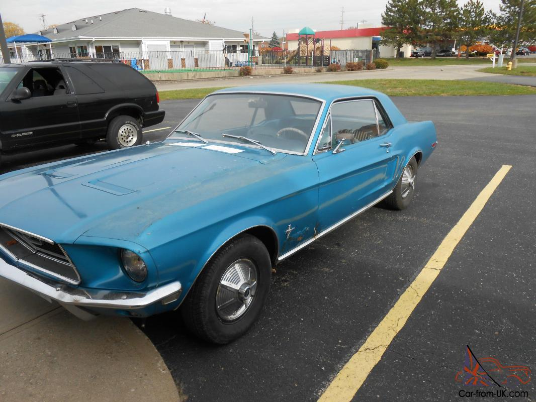 1968 Mustang Coupe, great year, great project car or parts car.