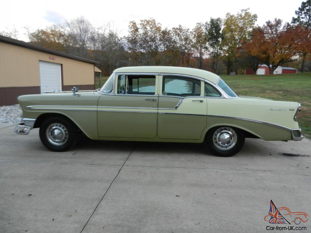 1956 chevrolet bel air four door sedan all original for 1956 chevy 4 door