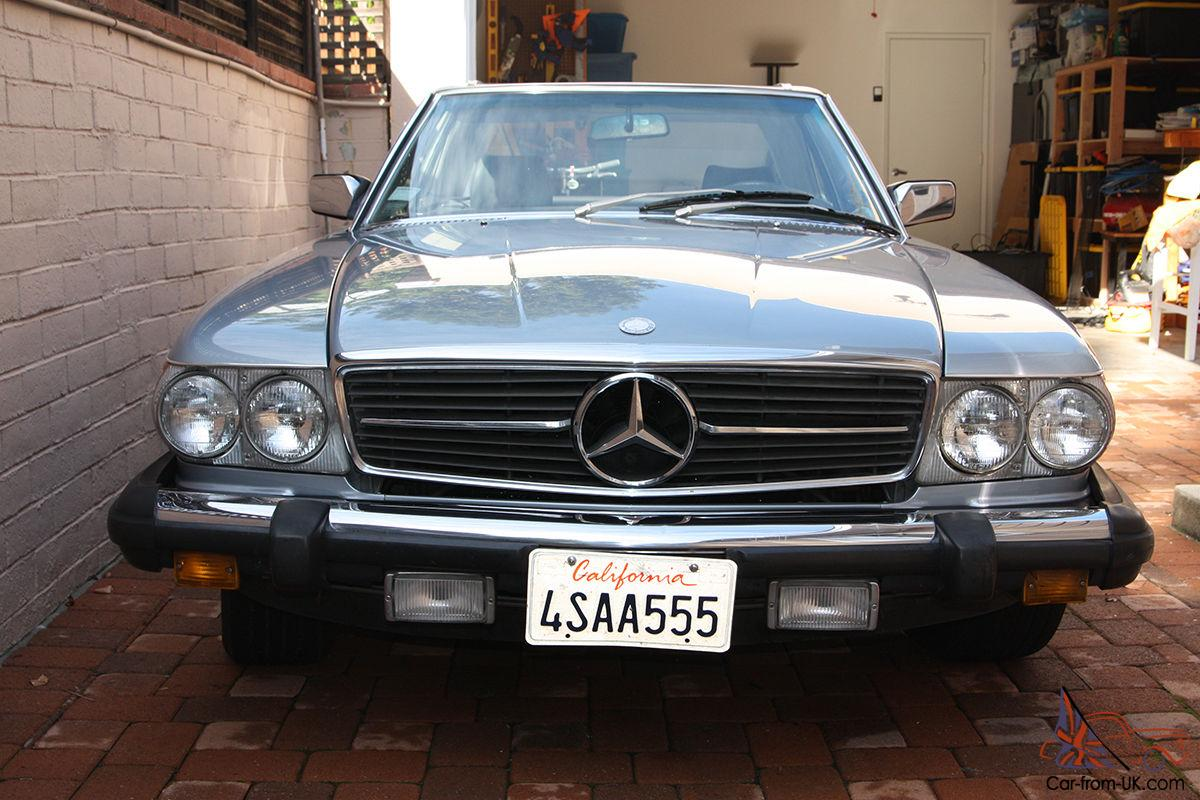 84 blue mercedes benz 380sl convertible with hard top for Mercedes benz convertible tops