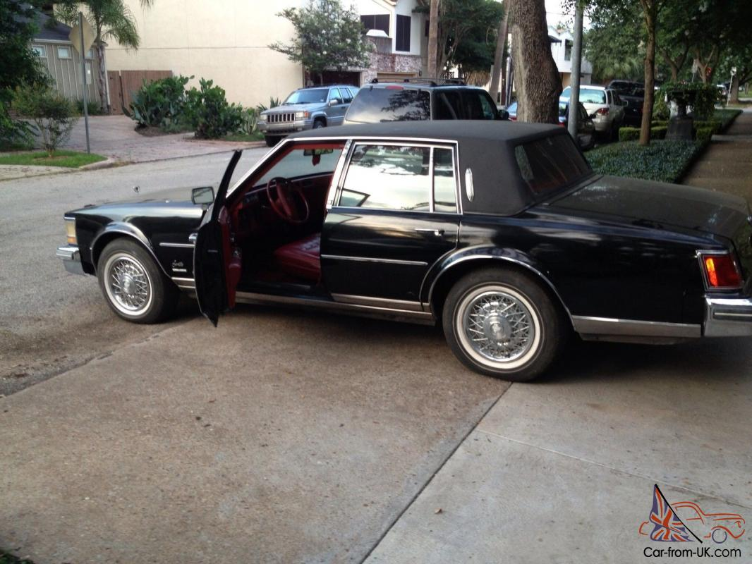 Cadillac Seville 1978 With 85 000 Orig Miles Black W Red Leather