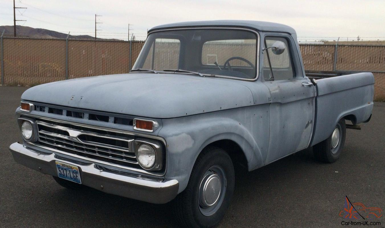 1966 Ford F100 Truck - Classic Hot Rod Car With No Rust!!