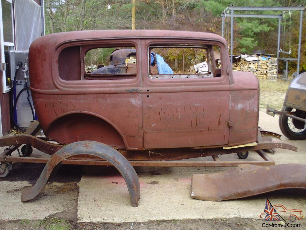1932 ford sedan all steel 32 hot rat rod project 1933 34 model a b ...