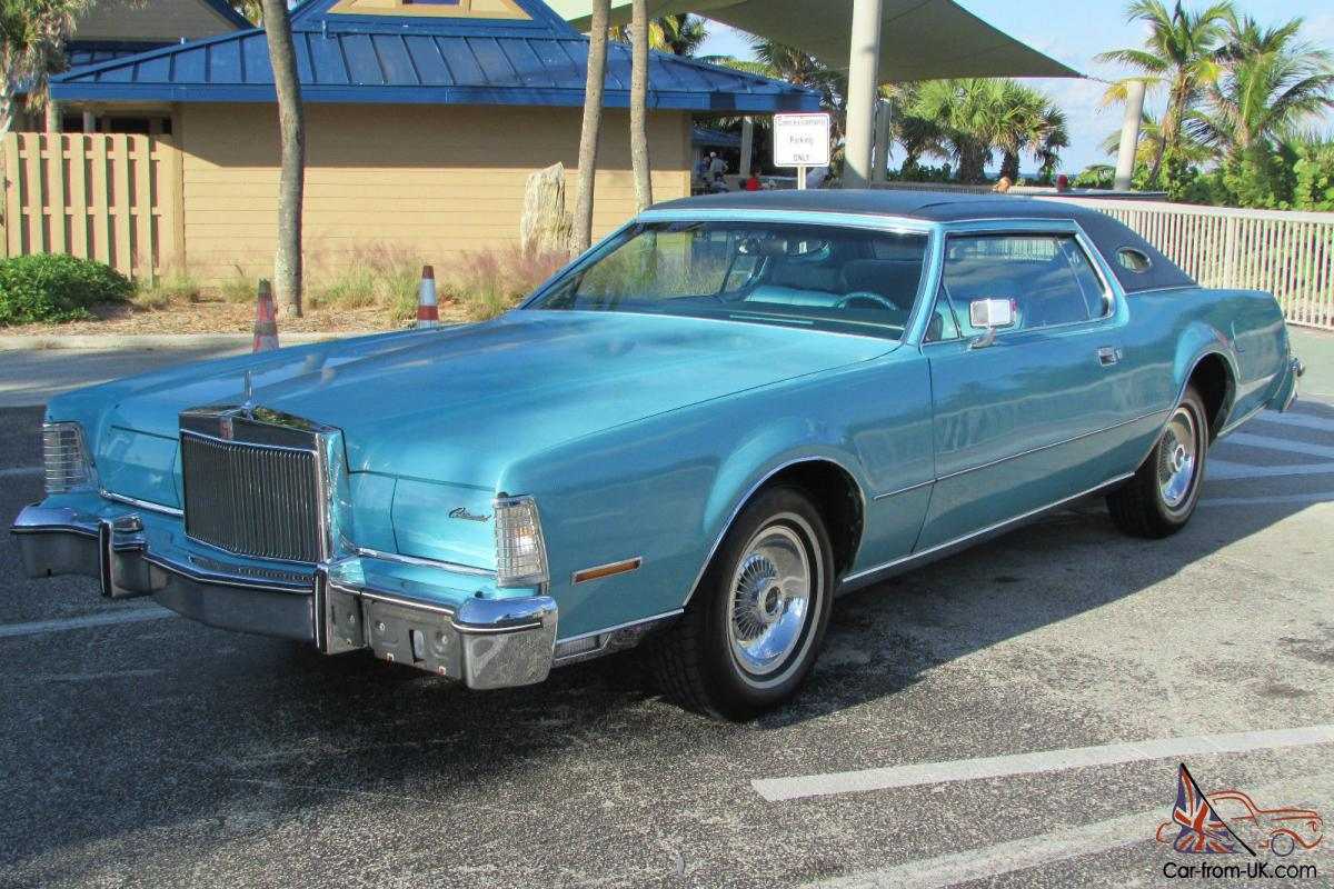 1975 lincoln continental mark iv blue diamond beautiful 2 owner no reserve. Black Bedroom Furniture Sets. Home Design Ideas