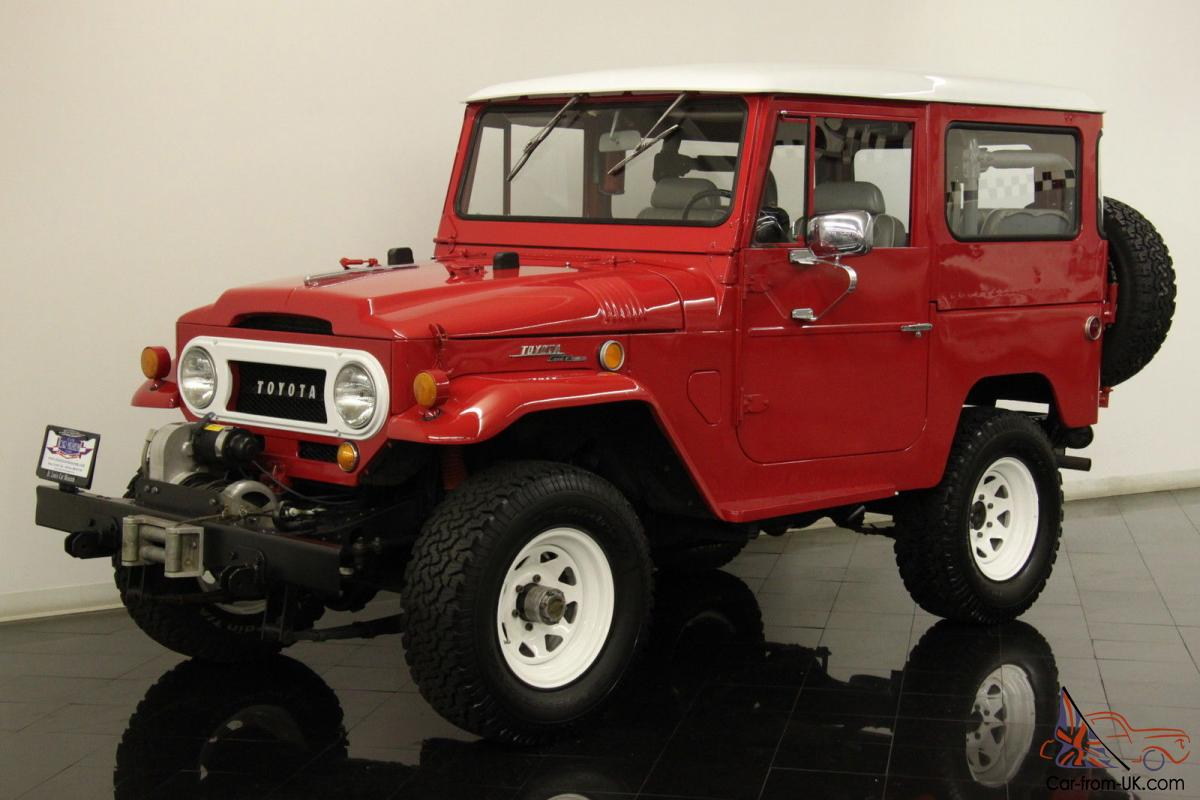 1968 toyota fj40 land cruiser 4x4 restored 3 8l 6 cyl 3 spd 55k original miles. Black Bedroom Furniture Sets. Home Design Ideas