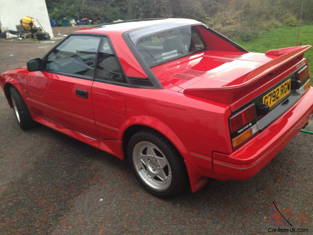 1990 Red Toyota Mr2 Mk1