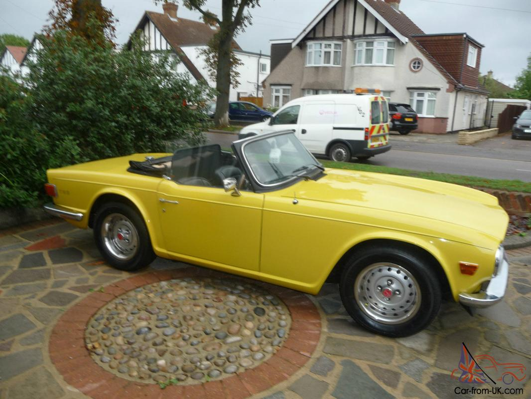 Triumph tr6 sports convertible mimmosa yellow ebay motors for Ebay motors cars for sale