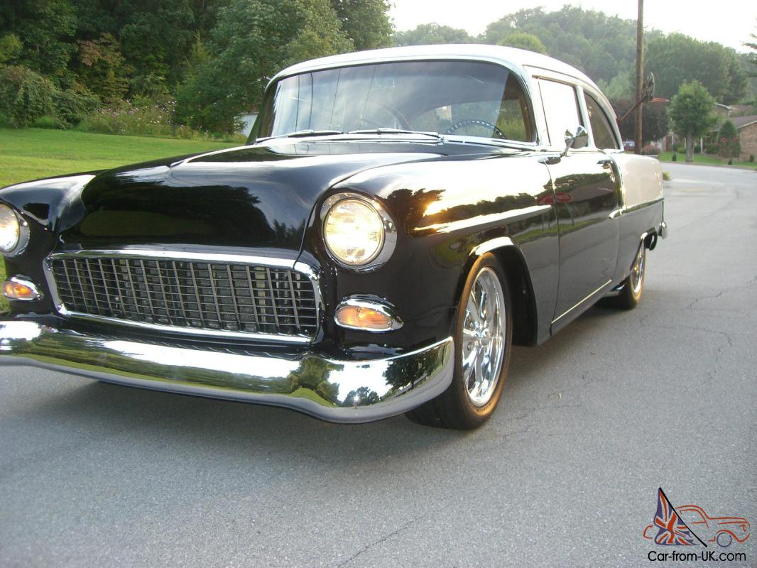 Used Car Lots In Nashville Tn 1955 CHEVY 210 PRO TOURING RETRO MOD LS1 SLICK BLACK COPPER LEATHER ...