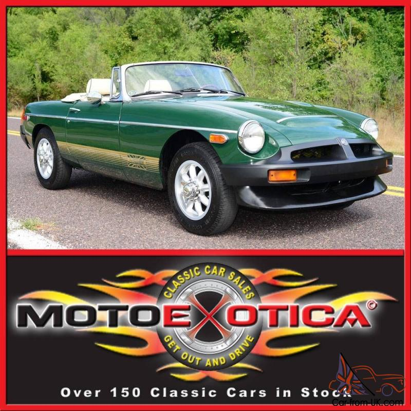 1978 Mg Mgb British Racing Green Beautiful Ivory