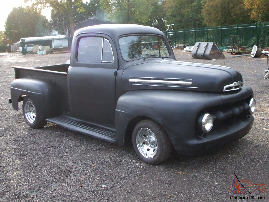 Ford f1 pickup truck american hotrod ratrod 1952 v8 chevy for Ford truck motors for sale