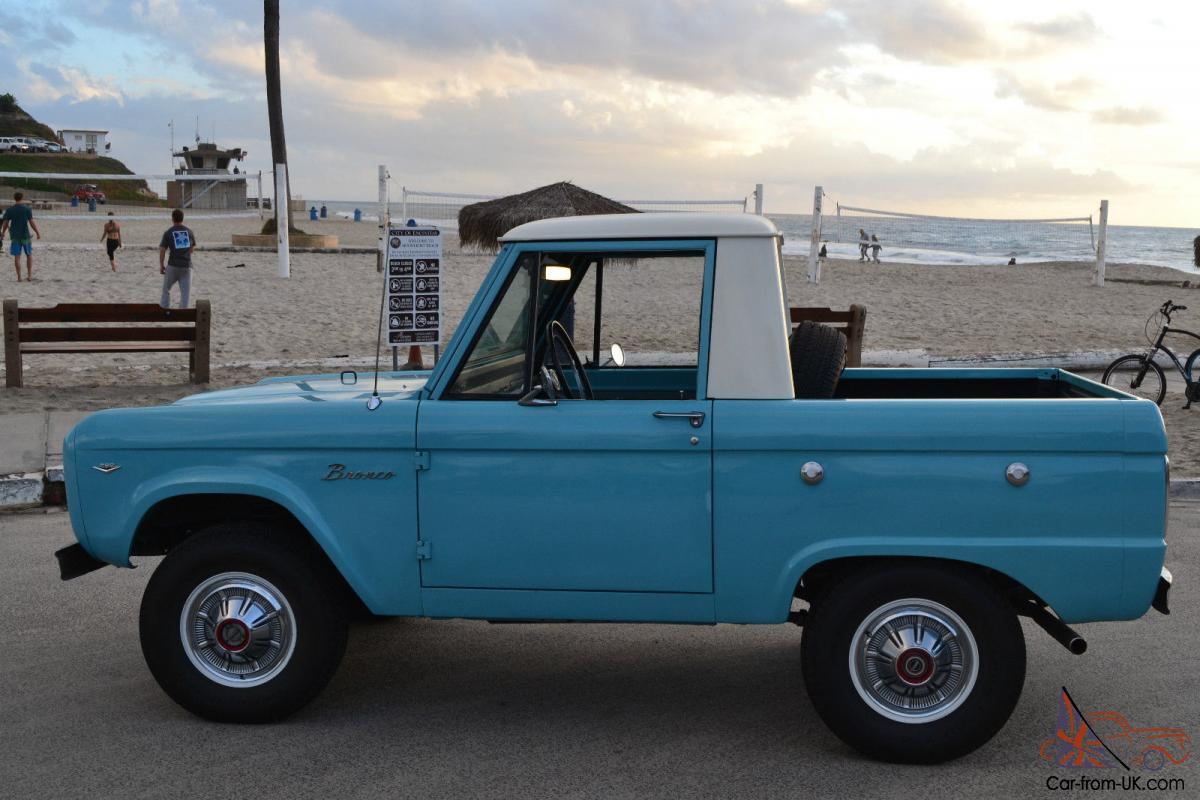1966 Ford Bronco Half Cab Beautifully Restored NO RESERVE