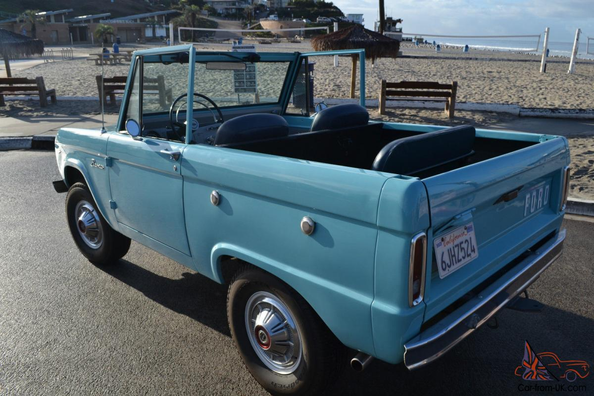 d7a9facb02 1966 Ford Bronco Half-Cab  Beautifully Restored  NO RESERVE